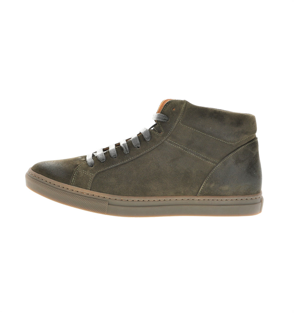 men sneaker olive suede leather | camino 71