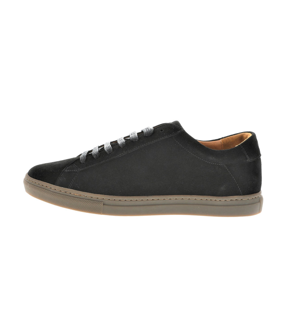 black sporty men sneaker in suede leather | camino 71