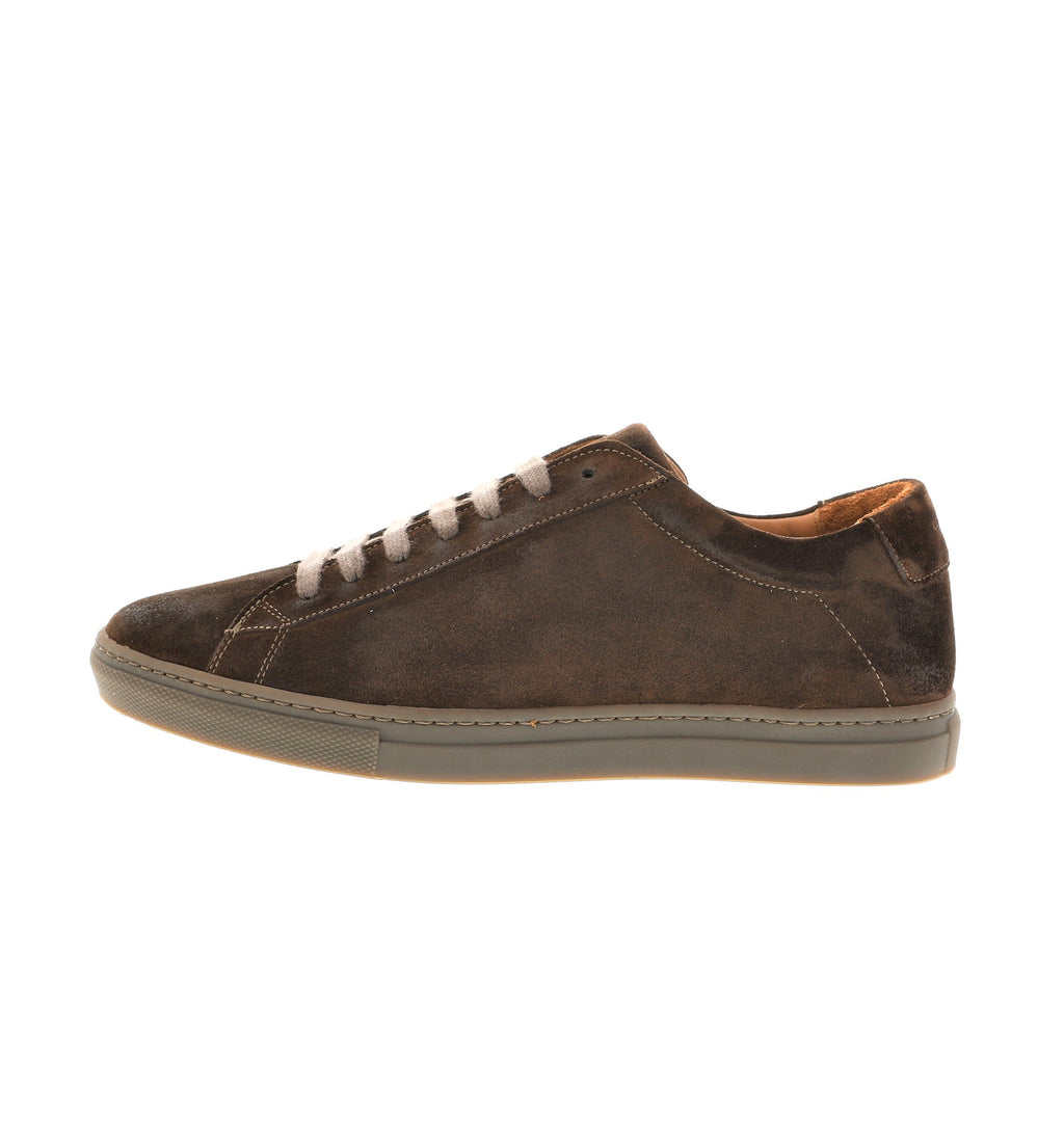 elegant brown suede leather sneaker | camino 71