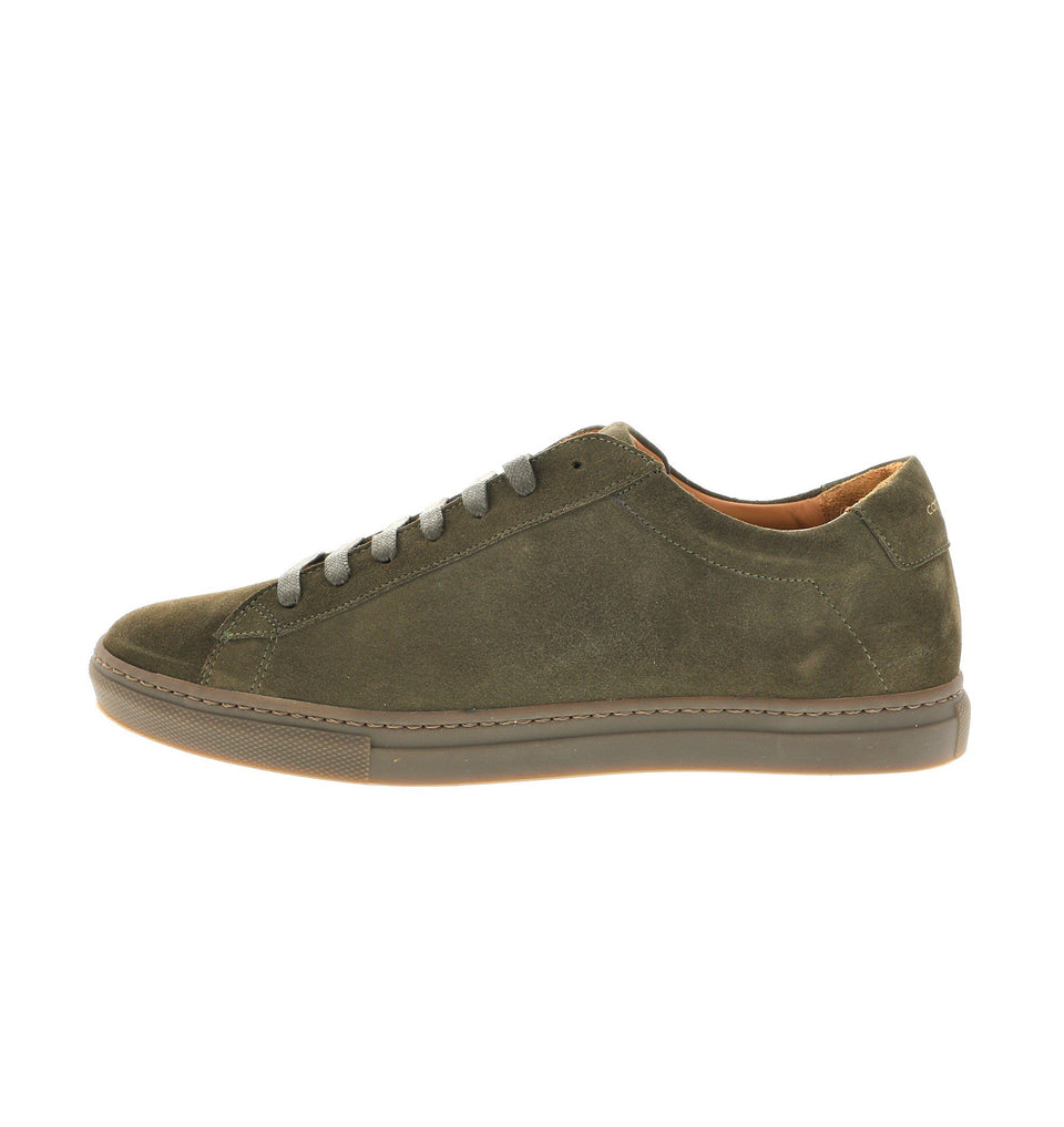 men sneaker in olive suede leather | camino 71