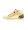 women sneaker in gold/leo leather | camino71