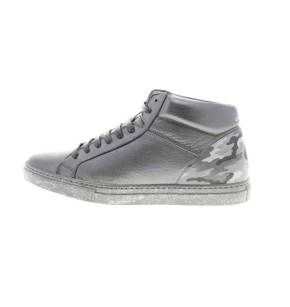 High grey_camouflage sneaker