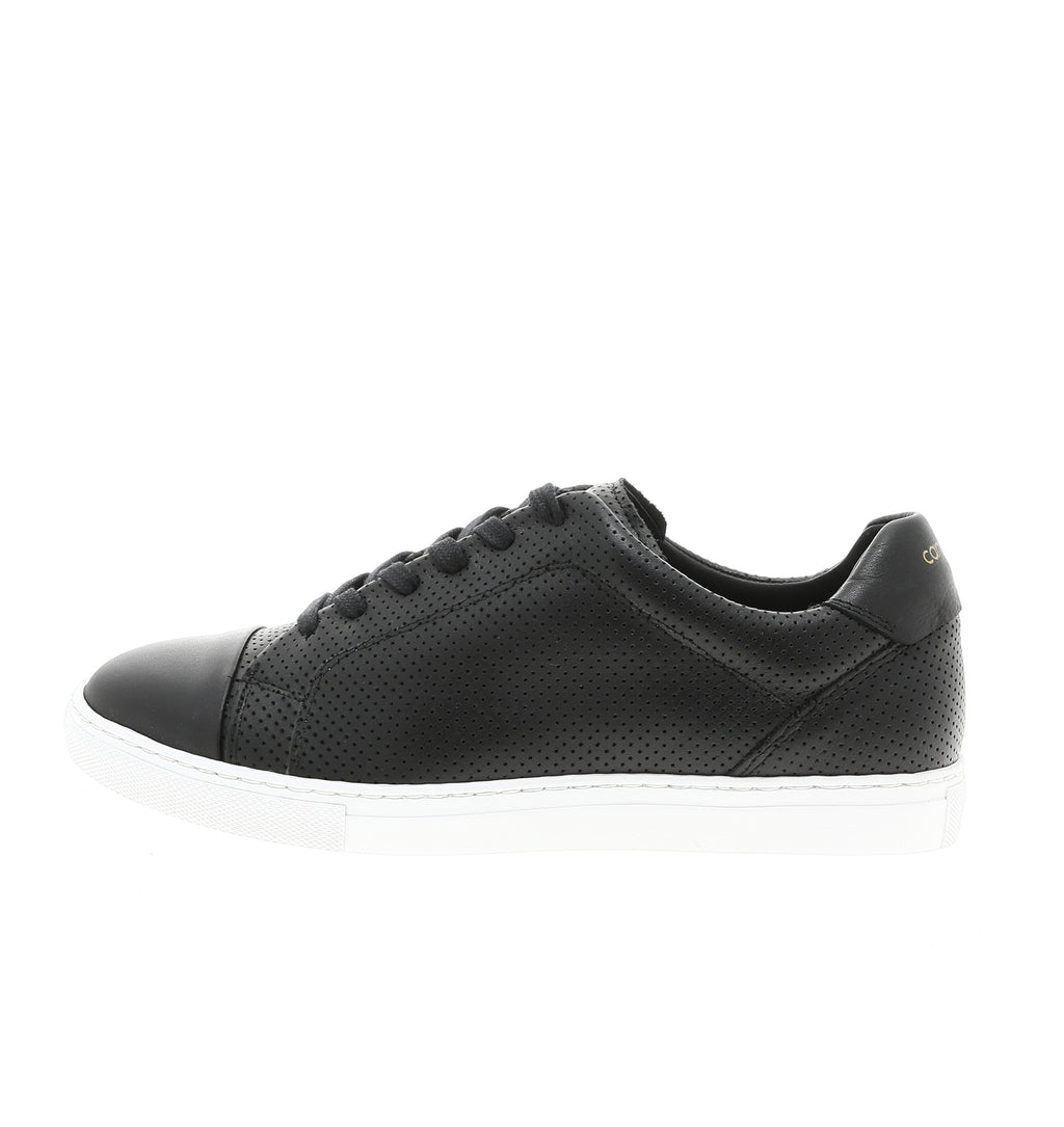 handmade black leather sneaker | camino71