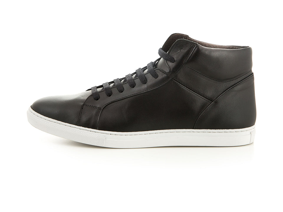 Handmade leather sneaker black men | camino71