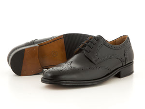 Elegant leather classic shoes for business all black | camino71