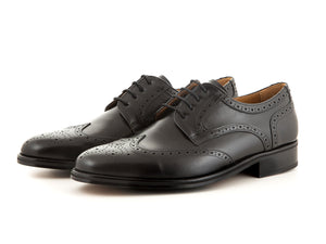 Handmade leather classic shoes for business all black | camino71