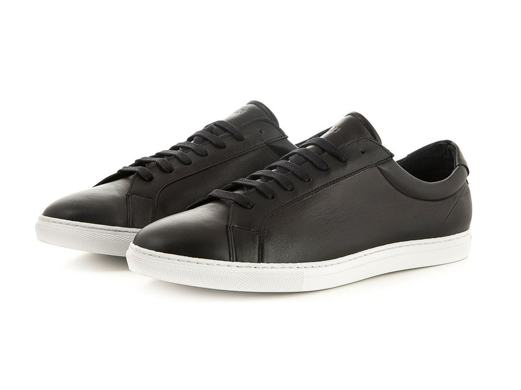 black sporty women's leather shoes | camino 71