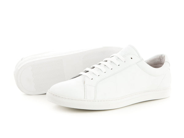 Sporty leather sneaker made for women all white | camino71