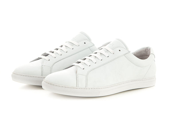 Sporty leather sneaker made for men all white | camino71