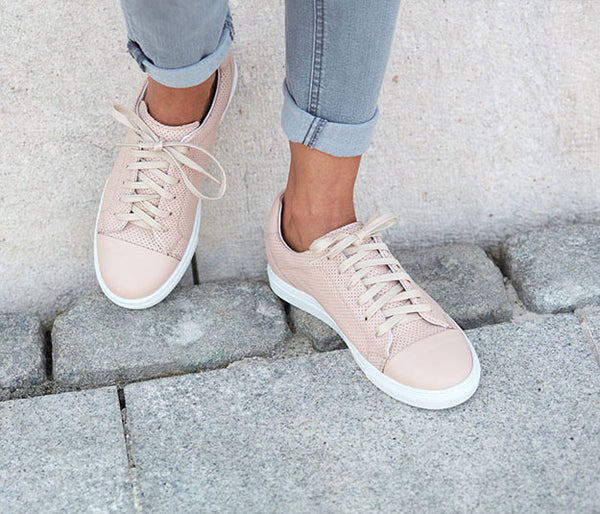 Handmade leather sneaker for women nude summer | camino71
