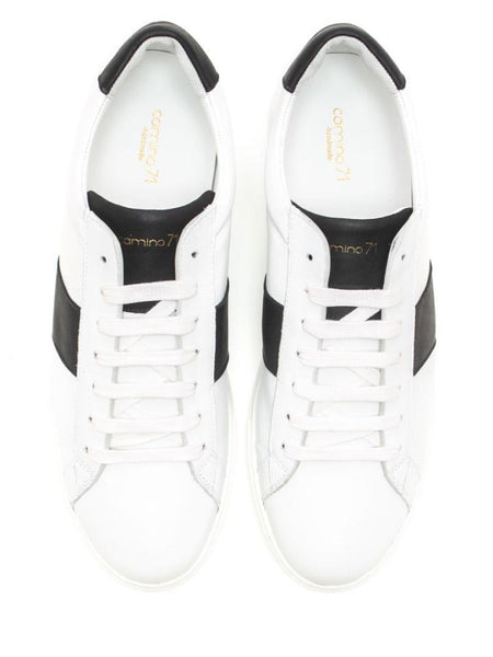 Handmade leather sneaker black and white | camino71