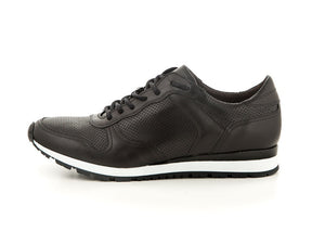 Sporty handmade men's leather shoes black | camino71