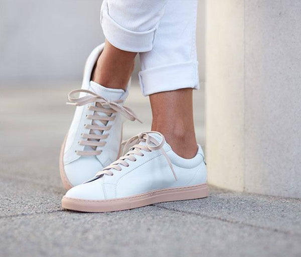 Handmade white leather sneaker  | camino71