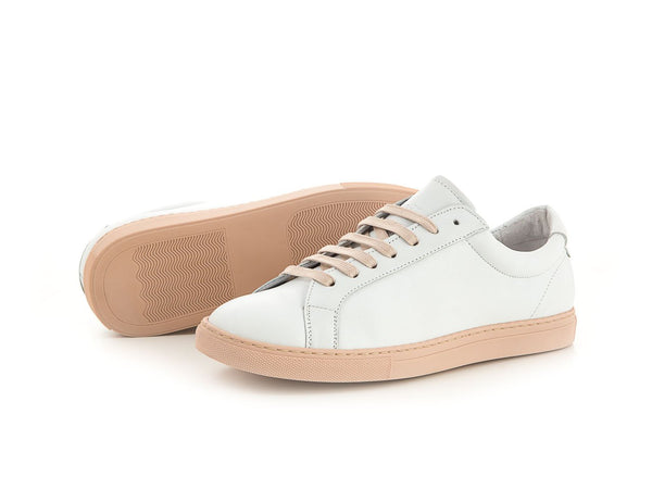 white women's leather sneaker | camino71