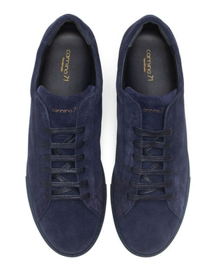 Handmade suede leather sneaker all blue | camino71