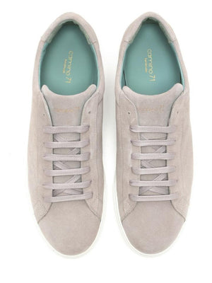 High-quality men's sneaker grey suede leather | camino71