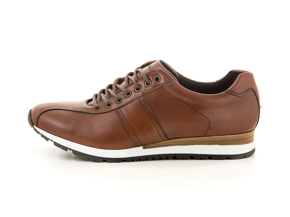 Handmade men's leather shoes cognac business | camino71