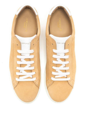 sporty and elegant men sneaker beige suede leather | camino71