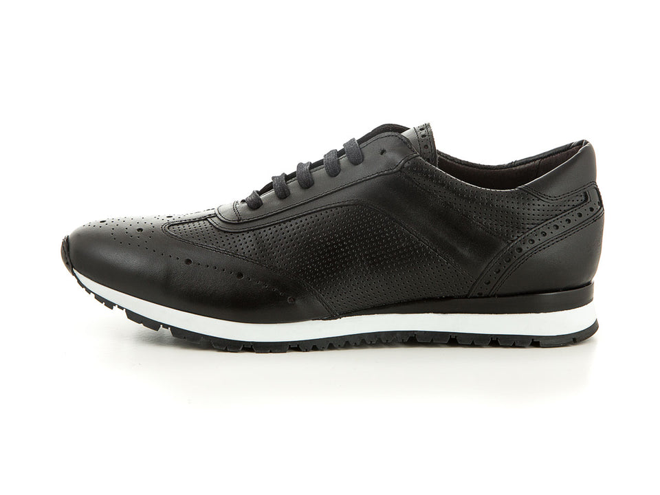 leather sneaker in black | camino71