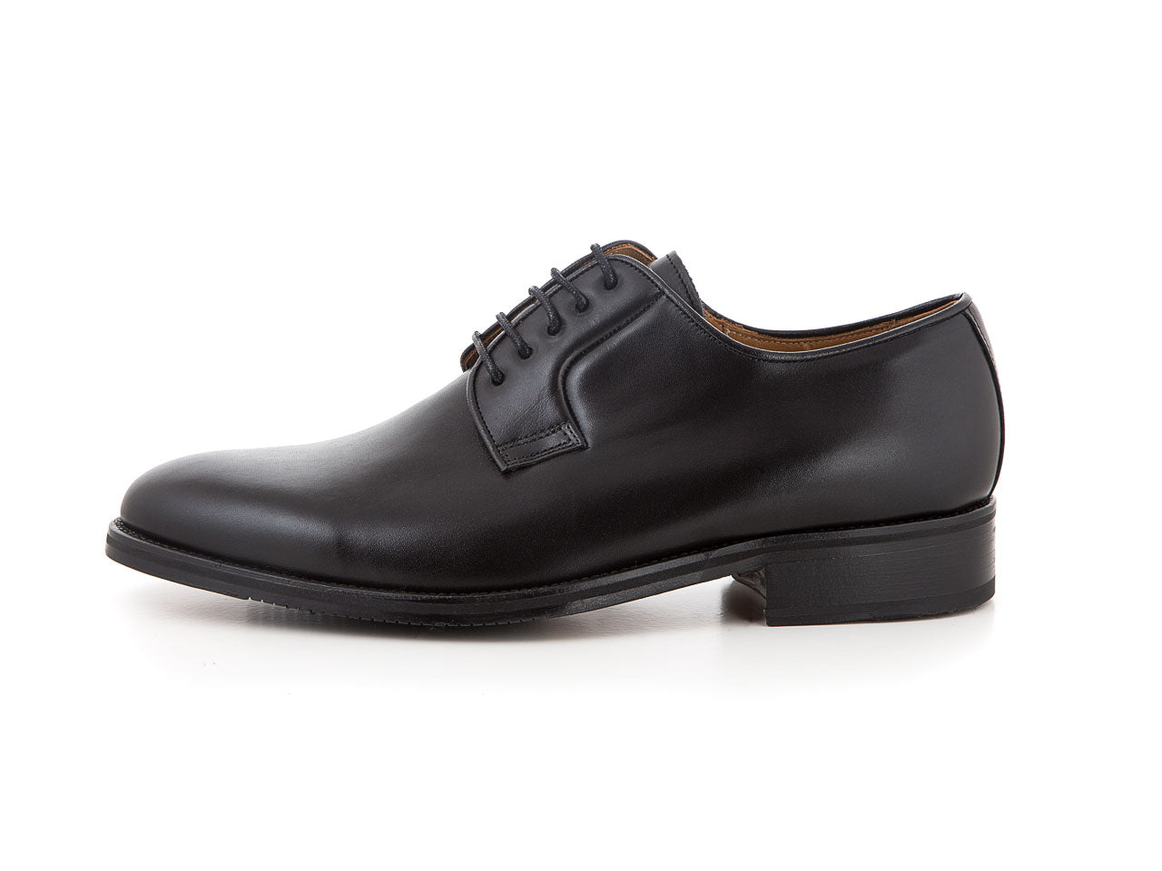 Classic handmade leather shoes all black for suits | camino71