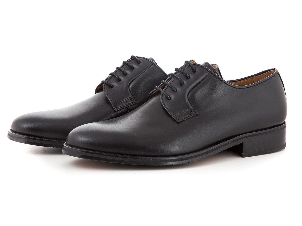 Classic elegant leather shoes all black for suits | camino71