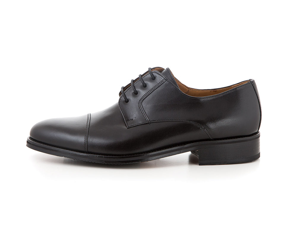 Handmade leather business shoes all black wedding | camino71