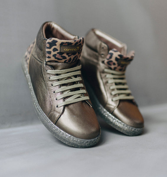 women bronze-leo leather sneaker | camino71