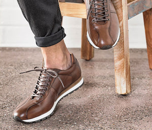 Elegant men's leather shoes cognac business | camino71