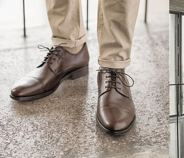 Handmade leather classic shoes brown details | camino71