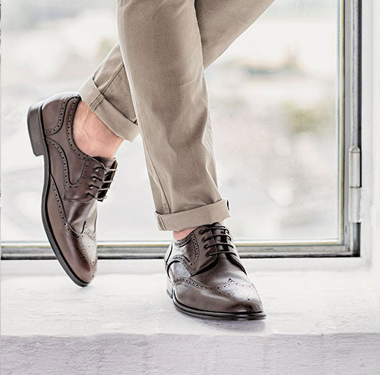 Elegant business leather shoes cognac wedding | camino71