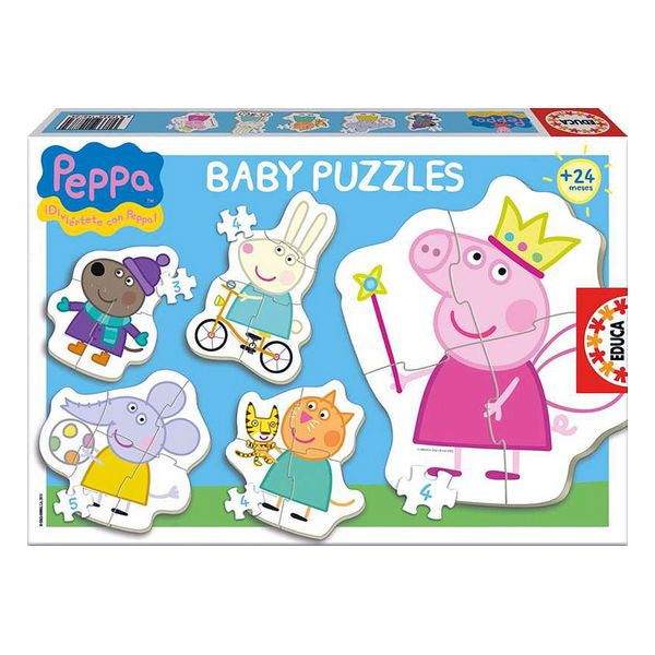 Set 5 pussel Baby Peppa Pig Educa