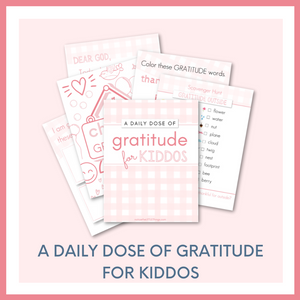 A DAILY DOSE OF GRATITUDE for KIDDOS - PINK