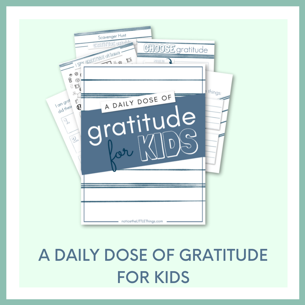 A DAILY DOSE OF GRATITUDE for KIDS - BLUE