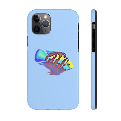 Polar Blue Parrot Cichlid Case Mate Tough Phone Case