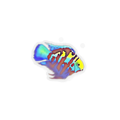 Polar Blue Parrot Cichlid Kiss-Cut Sticker