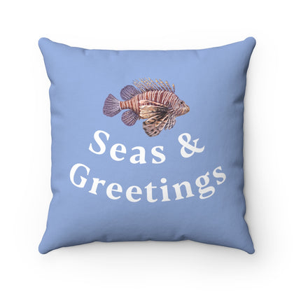 Seas and Greetings Lionfish Pillow