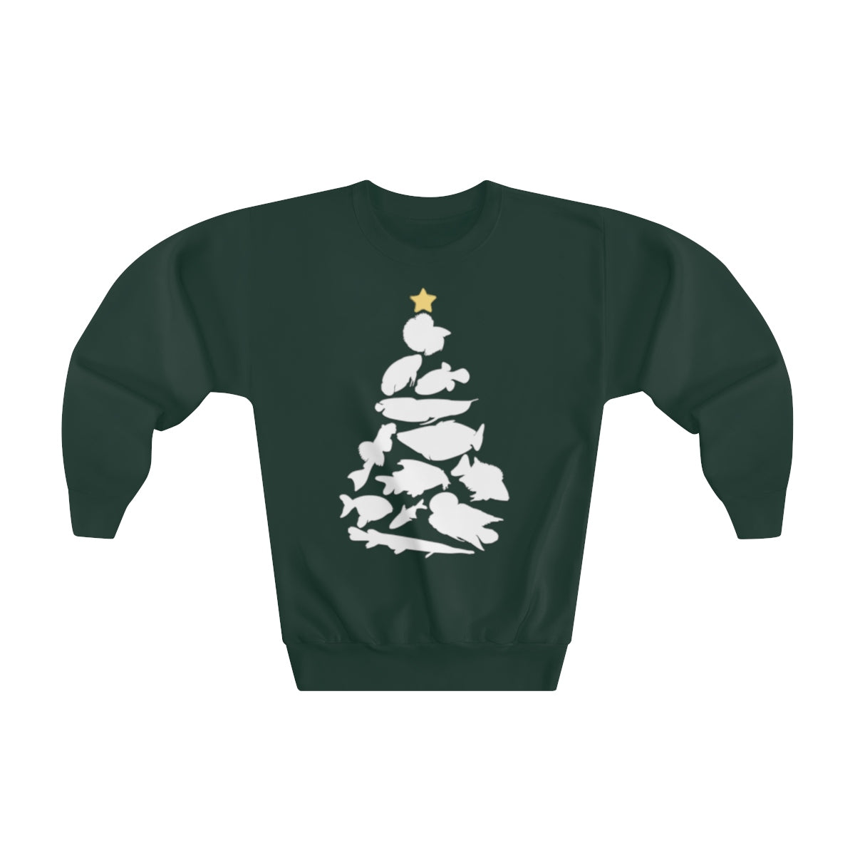 Freshwater Fish Christmas Tree Youth Sweater