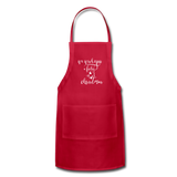 Wish You a Fishy Christmas Holiday Green Apron - red