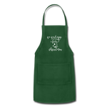 Wish You a Fishy Christmas Holiday Green Apron - forest green