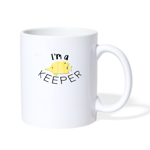 "I'm a ""Fish"" Keeper Mug - white"