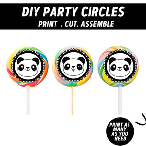 Party Like a Panda Boy Cupcake Toppers