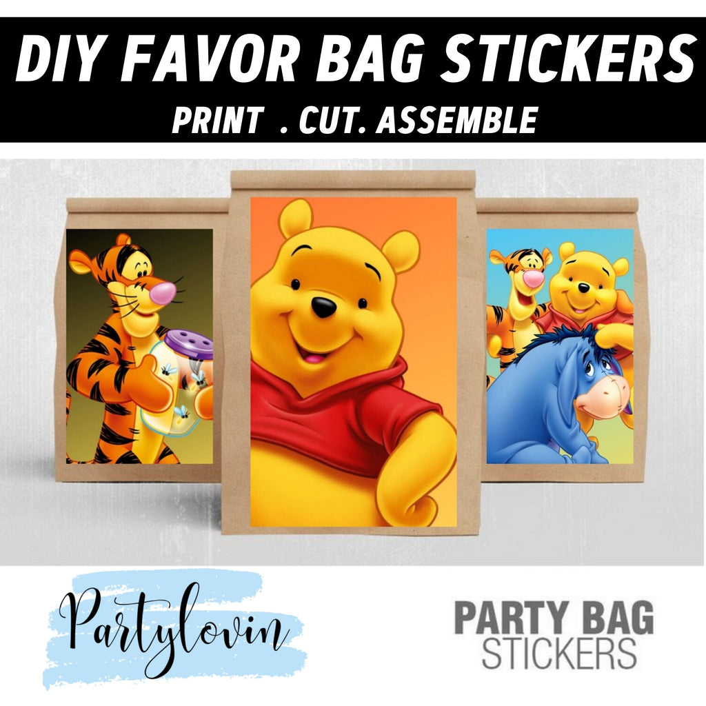 Winnie the Pooh & Friends Favor Bag Stickers