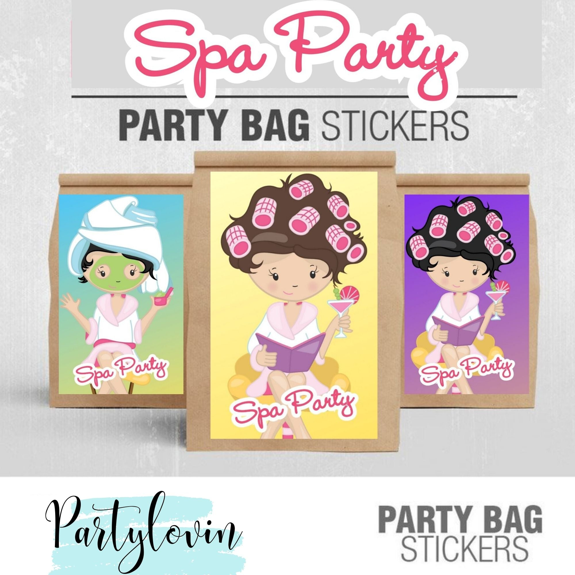 SPA BIRTHDAY PARTY PACKAGE PRINTABLE