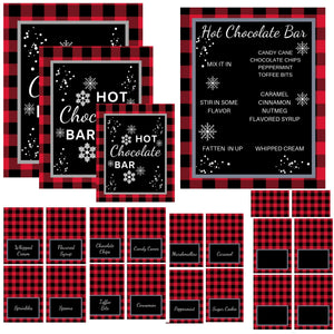 Hot Chocolate Food Bar Printable