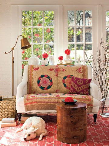 Real Simple: Home Decor Ideas, Recipes, DIY & Beauty Tips Cosy Bohemian interior