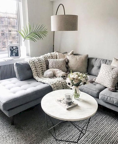 Modern Living Room Ideas With Grey Coloring - Home to Z