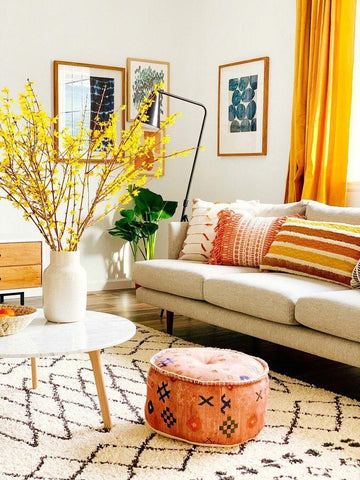 Yellow Warm Living Room Decor Ideas