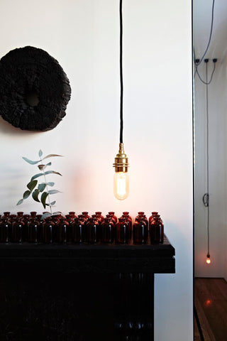 Industrial bare bulb Edison single pendant lights