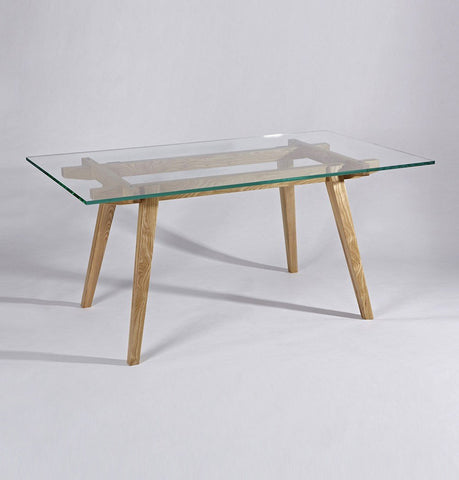 Harald Modern Dining Table - Glass & Wood