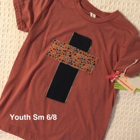 Rugged Cross KIDS Distressed Recycled Tee, Youth Small 6/8